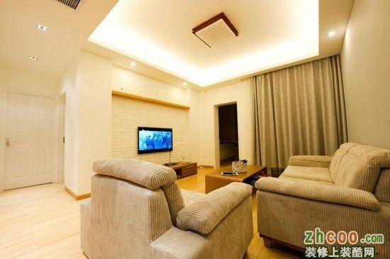无印良品风格 90平米小三房装修案例分享高清图片