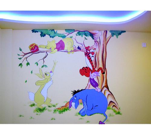 >> 卡通手绘墙