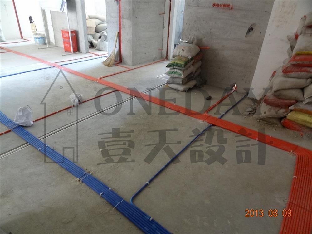 漢口湖畔水電施工