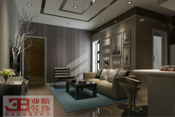 天域香格里拉1室1厅1卫现代装修案例
