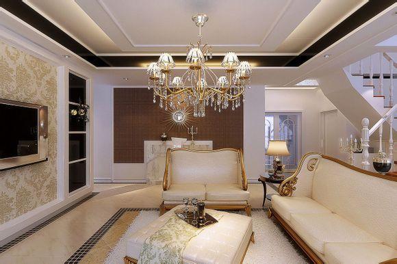 简欧风装修效果图 欧式风格 三室两厅两卫图片