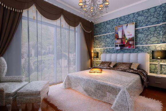 简欧风装修效果图 欧式风格 三室两厅两卫