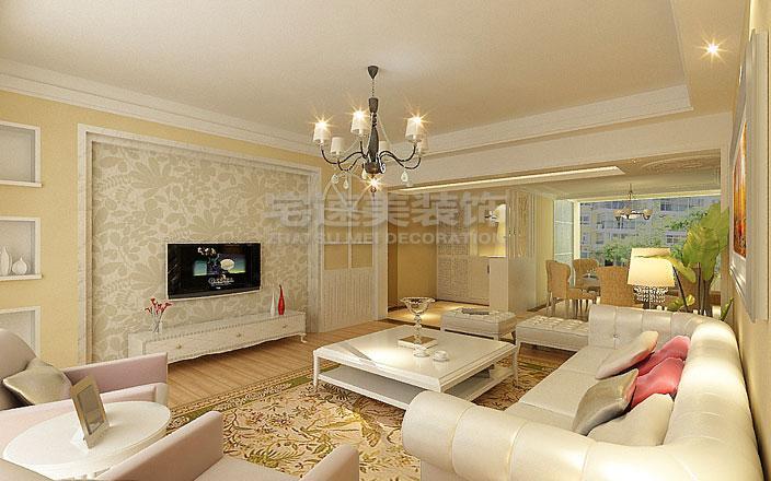 客厅 鑫龙小区小区275平米楼中楼简欧风格装修案例