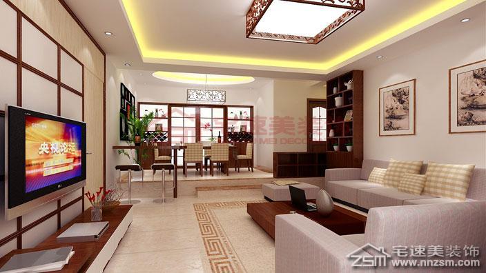 >> 英伦十八小区140平米四房两厅新中式风格装修案例