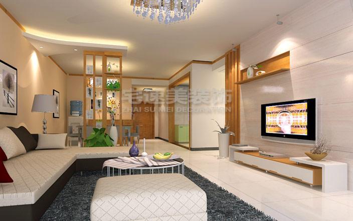 农科院生活小区115平米三房两厅现代简约风格装修案例