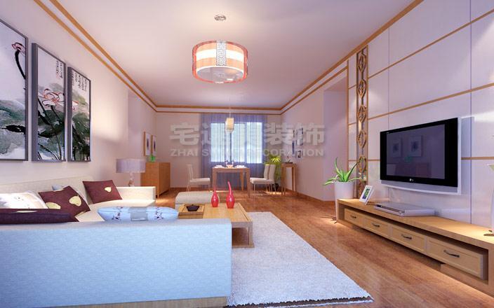 香江花園小區99平米三房兩廳現代簡約風格裝修案例