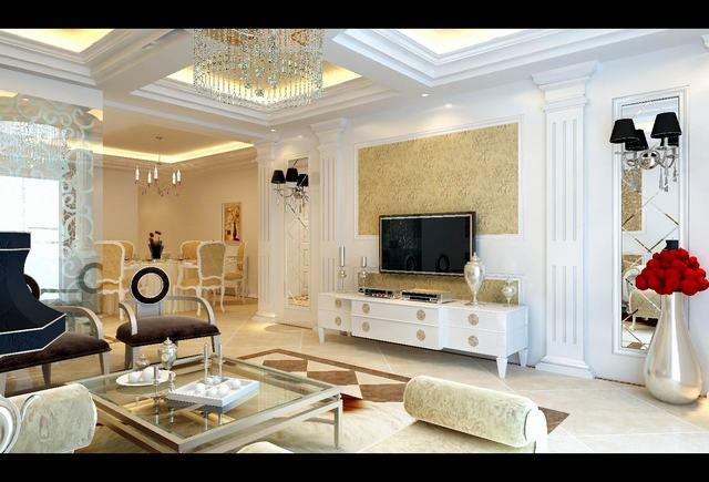 三室一厅一卫欧式装修效果图_三室一厅一卫欧式装修