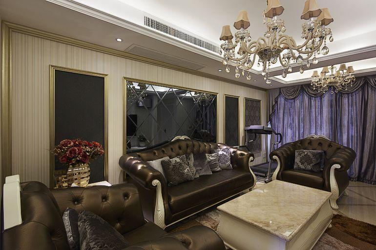 龙城国际(欧美风情-126.13平米四居室装修设计)