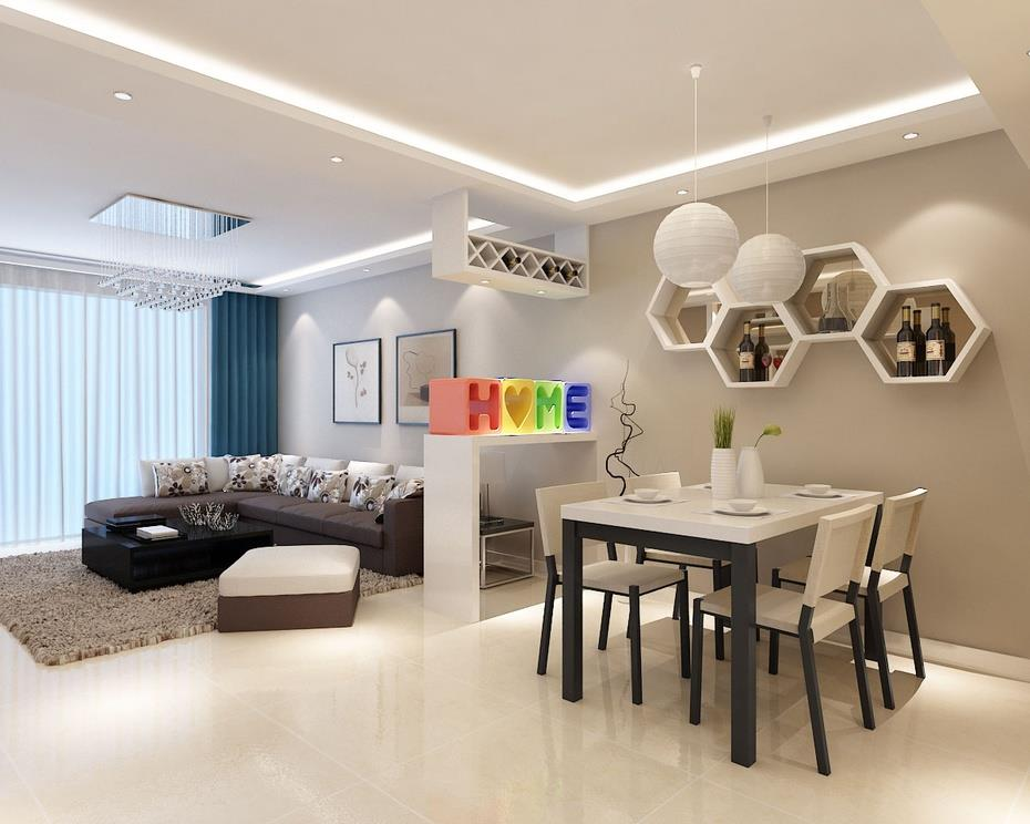 红木林小区经典案例120平米三居室简约风格