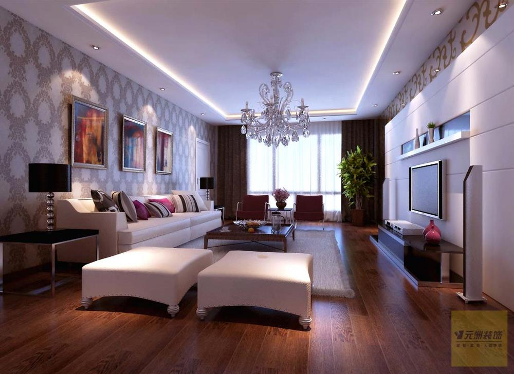 红木林140平米现代古典中式风格装修