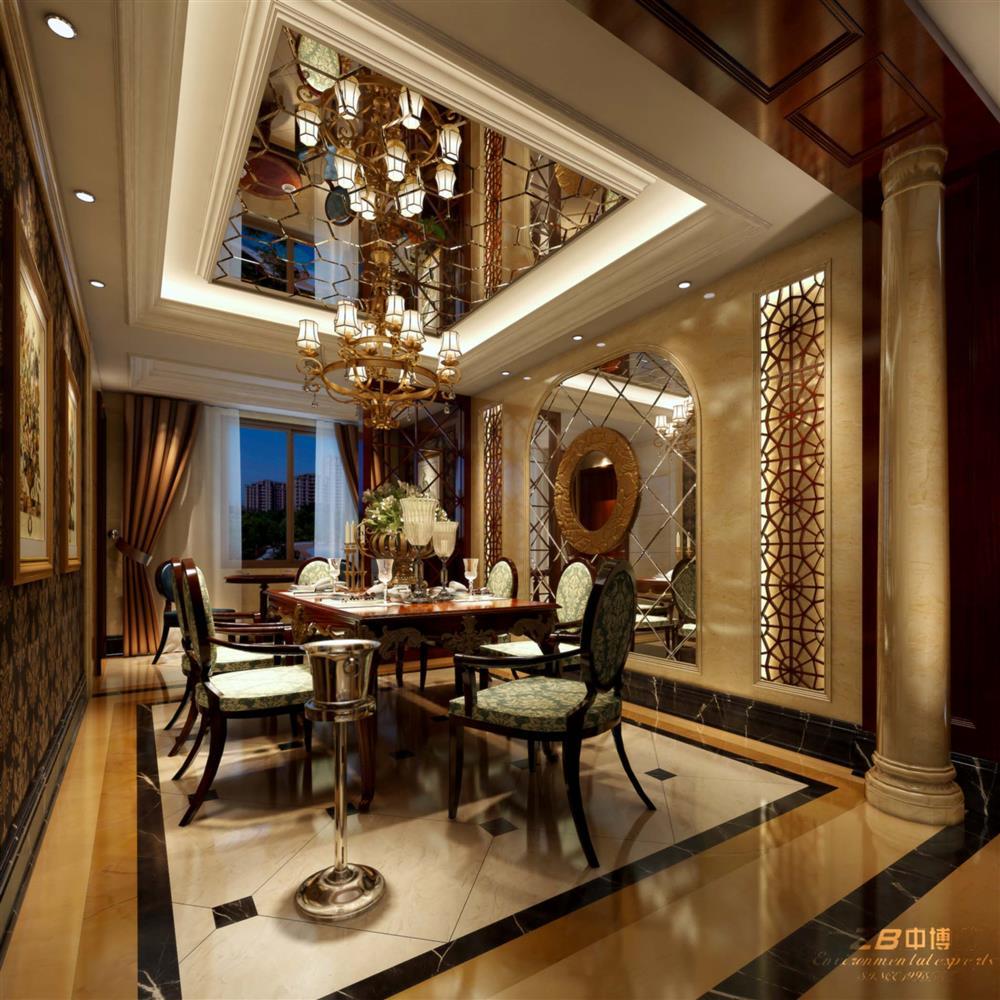 客廳 綠城藍庭歐式典雅裝修——130方的空間打造排屋感覺
