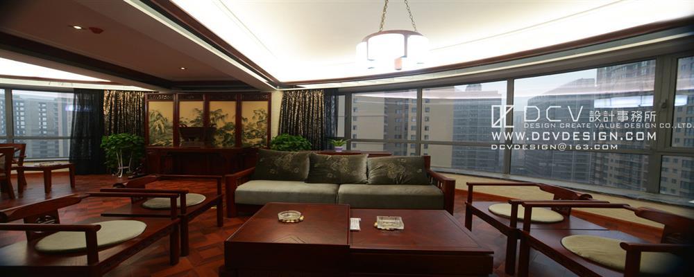 dcv第四维室内设计(西安)有限公司/大德建筑公司办公会所/新中式风格
