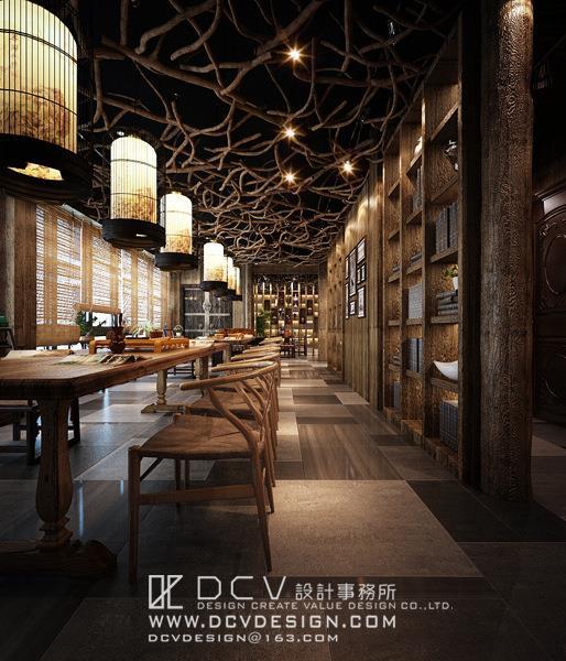 新中式风格 西安休闲会所室内设计—泾阳德林主题