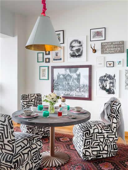 【鑫之家装饰】95平米个性阁楼 彩色复古三居室效果图