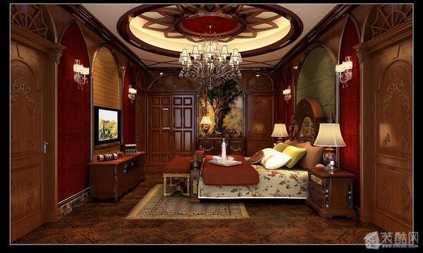 卧室 欧式风格别墅装修效果图