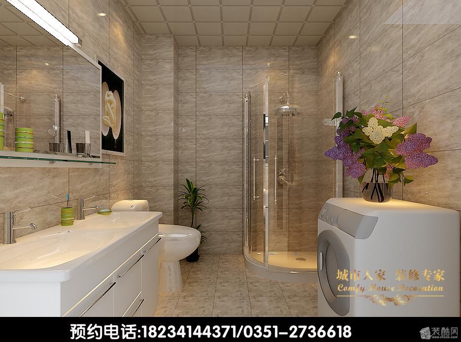 卫浴【装修设计案例】华峪东区—170平米