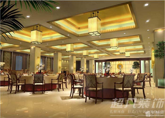 郑州工装公司超凡装饰装修永城洗浴中心案例赏析-----三楼自助餐厅