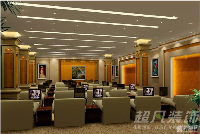 郑州工装公司超凡装饰装修永城洗浴中心案例赏析-----二楼休息室