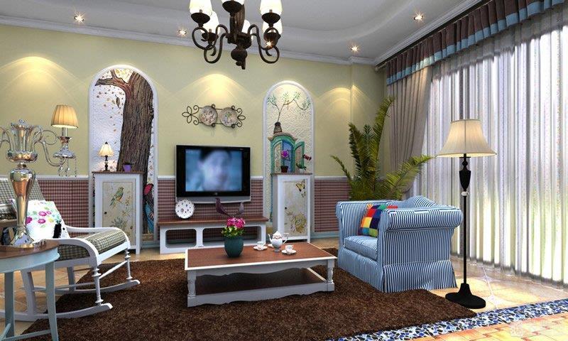 电视背景墙家居装修图