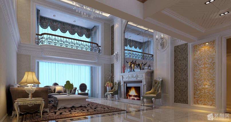 客厅圆形弧度的吊顶雍容奢华