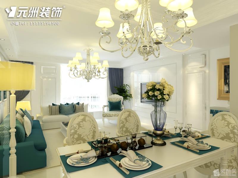 君泰风尚国际168平米现代风格设计