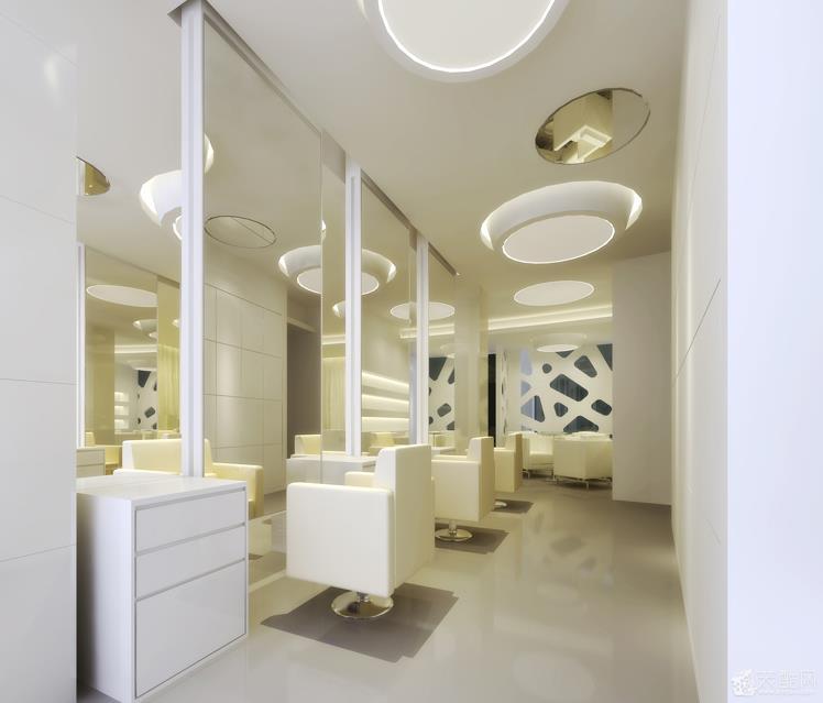 时尚发廊店面装修设计效果图效果图