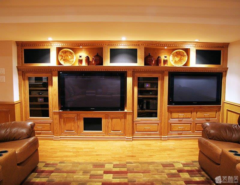 嵌入式电视背景墙设计