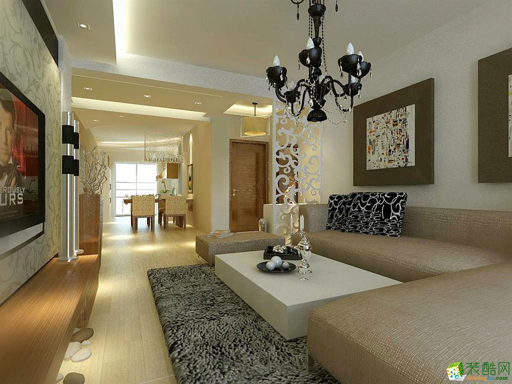 华润橡树湾93平现代风格设计
