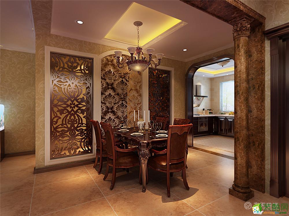 135平米三室两厅装修效果图欧式