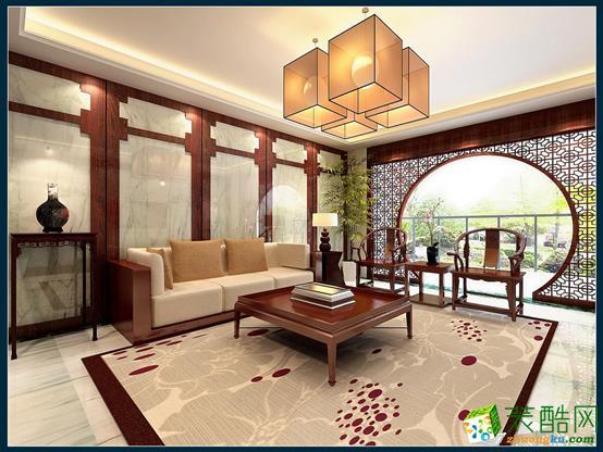 昆明市西山区 金坤世纪140平米中式风格平层户型造价14万