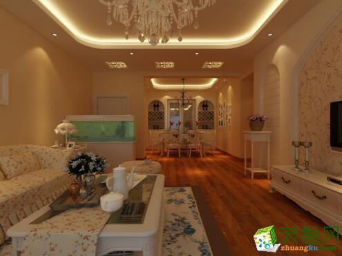 昆明呈贡滇池星城150平米田园风格中户型造价13万元