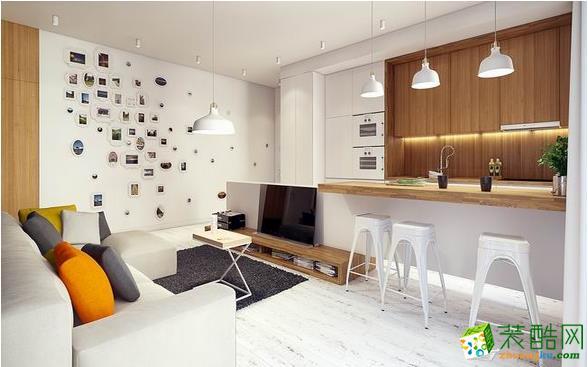 厨房客厅和餐厅之间不需要墙壁阻隔