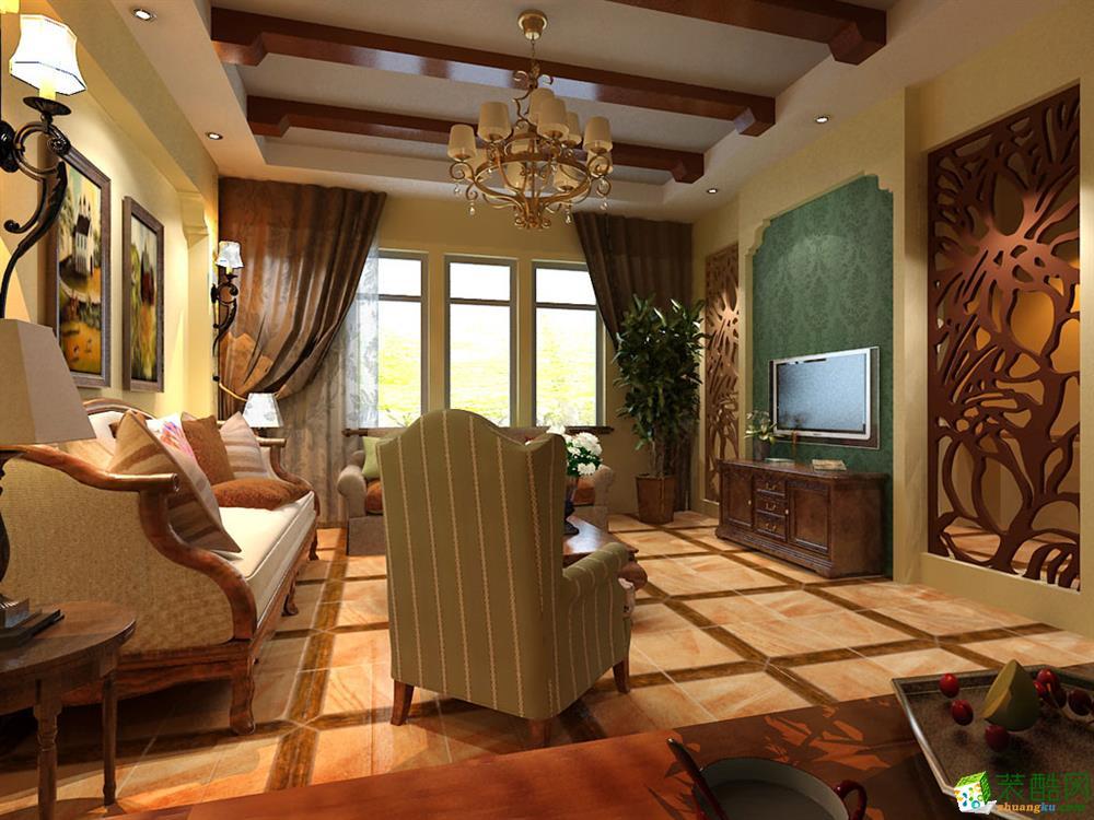 客厅 碧桂园别墅田园风格设计