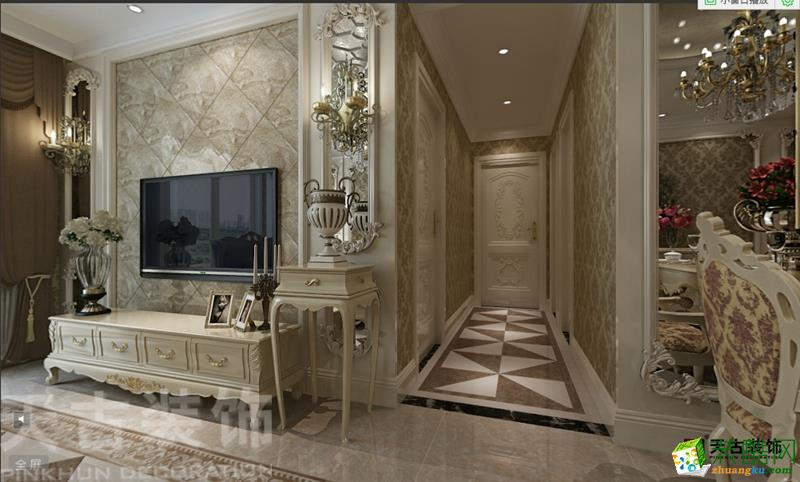金科公园王府装修效果图 两室两厅设计 欧式风格 两室两厅两卫