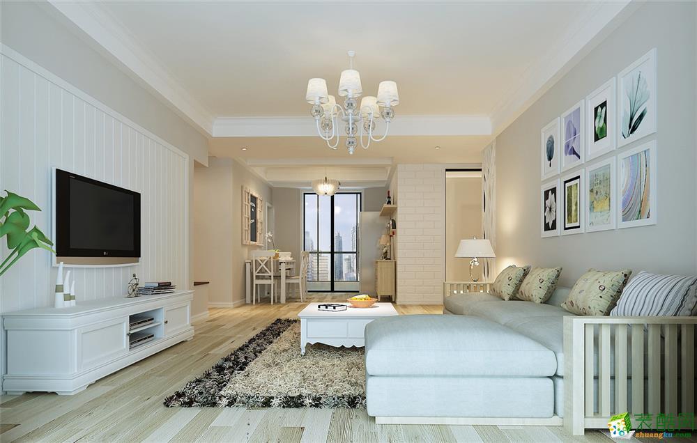 蓝色港湾三居室户型简约风格设计