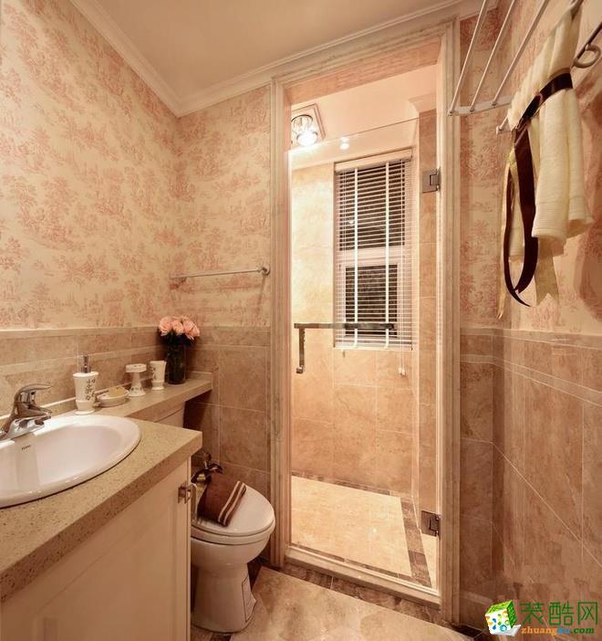 132平粉色田园风三居室