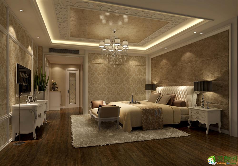 卧室 南郊中华园别墅户型装修欧式新古典风格设计方案——上海聚通