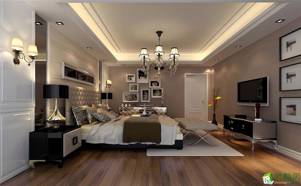 卧室 万馨佳园四居室户型装修设计方案展示,上海聚通装潢设计师案例