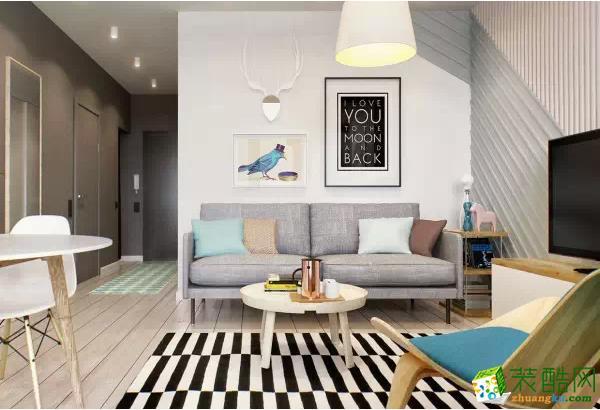 上海实创装饰-黄浦区简约紧凑单身一居室装修-小空间大格调