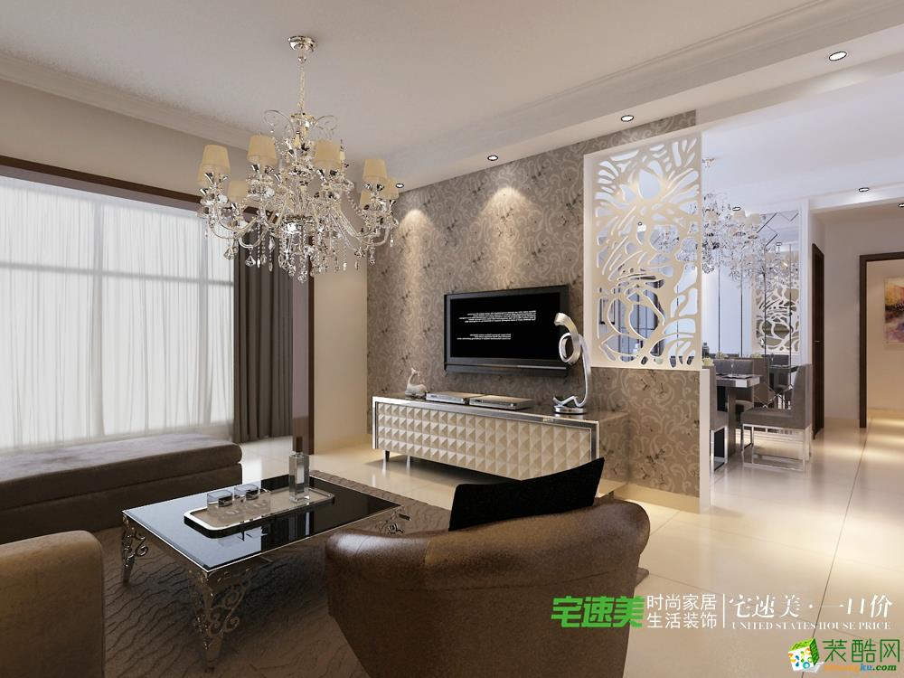 三室两厅简欧风格装修效果图