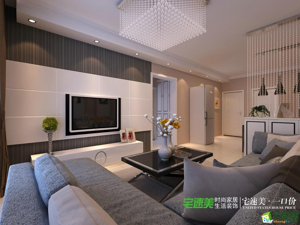 东方红郡118平三室两厅现代风格装修效果图  东方红郡118平三室两厅现代风格装修效果图