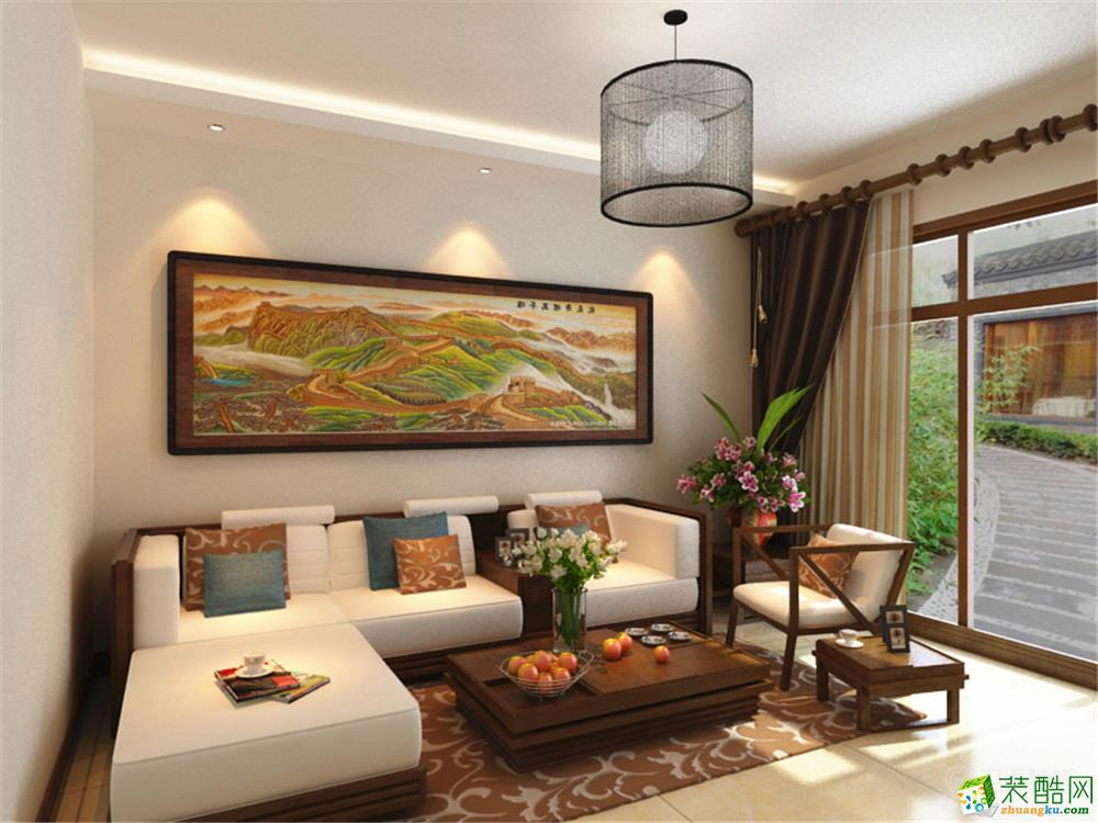 客厅 力天装饰-远洋风景76.6㎡