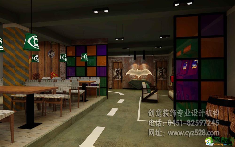 哈尔滨主题烧烤店设计效果图_装酷网装修案例