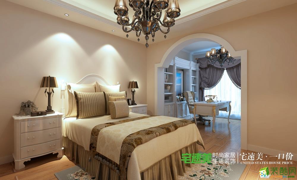 城市之光三室两厅115平简欧风格卧室装修效果图