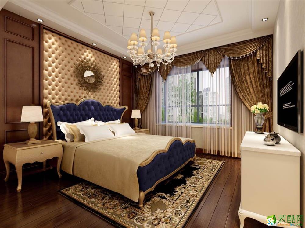 浦江華僑城120平三居室美式風格裝修