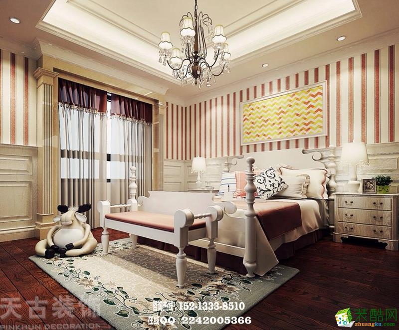 橡树澜湾联排别墅美式风格装修效果图效果图