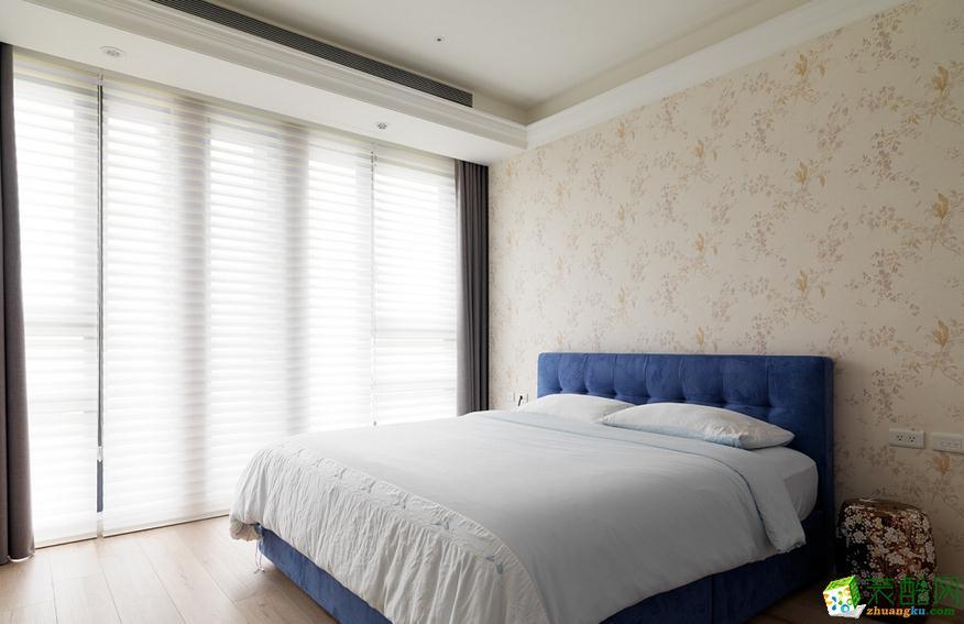 经典美式风格床头背景墙效果图