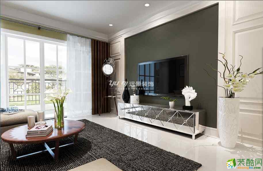 客厅电视背景墙 远景装饰现代北欧