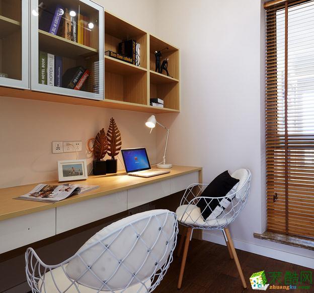 74平两室装修书柜效果图
