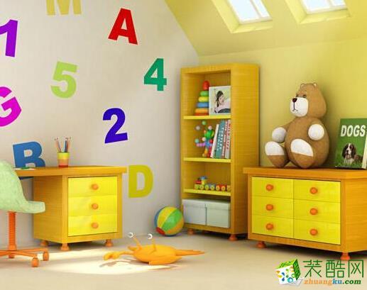 3D儿童房墙纸效果图